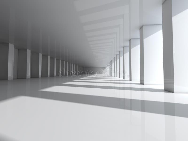Fondo moderno astratto di architettura, spazio aperto bianco vuoto royalty illustrazione gratis