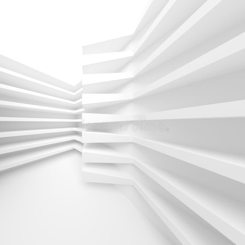 Fondo moderno bianco di architettura Particelle elementari astratte illustrazione di stock