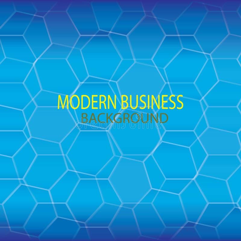 Fondo moderno blu di tecnologia illustrazione di stock