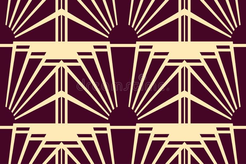 Fondo moderno de Art Deco libre illustration