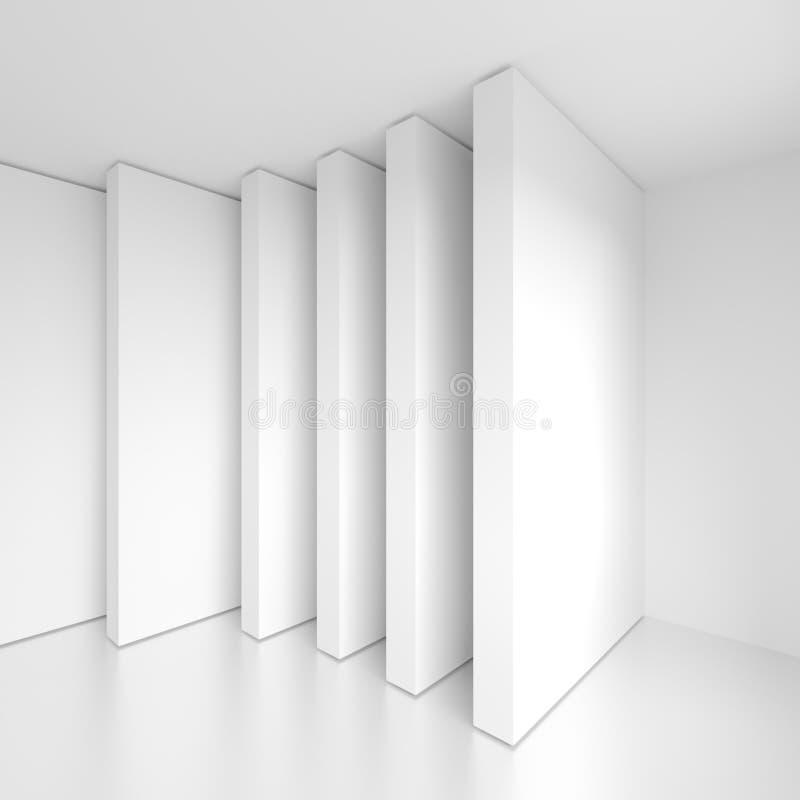 Fondo moderno de la arquitectura Diseño interior creativo ilustración del vector