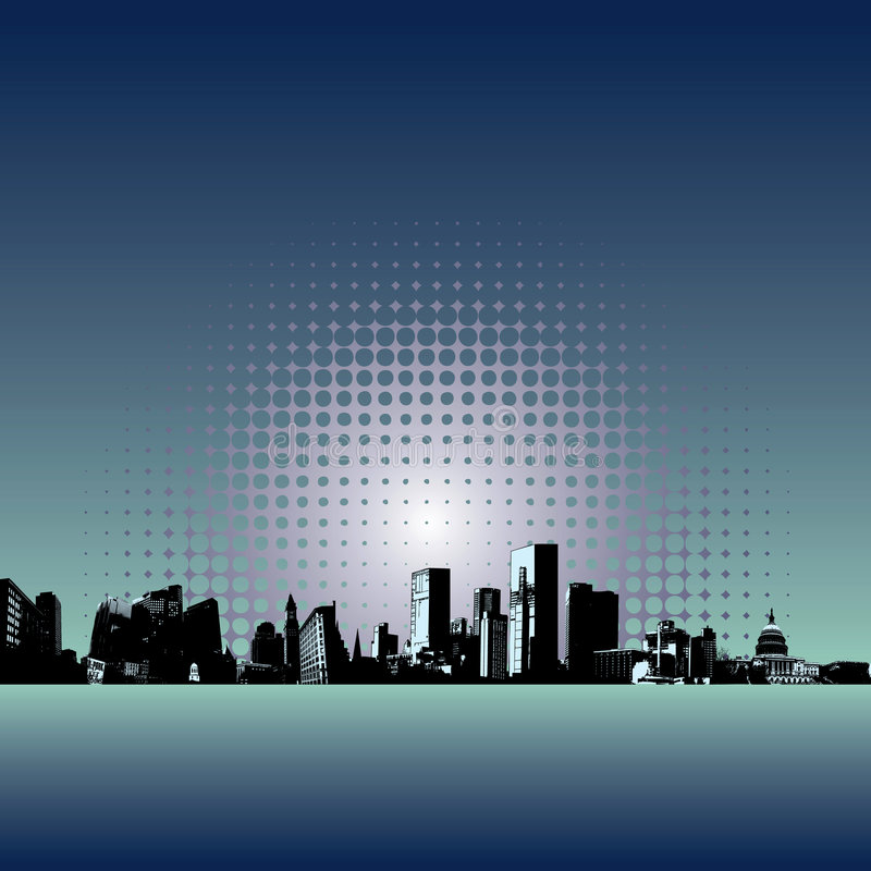 Fondo moderno de la ciudad libre illustration
