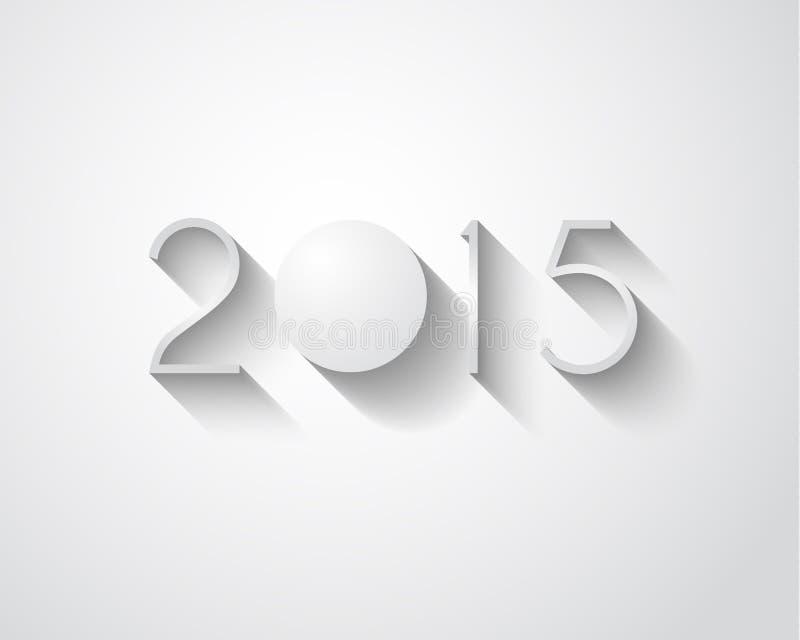 Fondo moderno de la Feliz Año Nuevo de la original 2015 stock de ilustración
