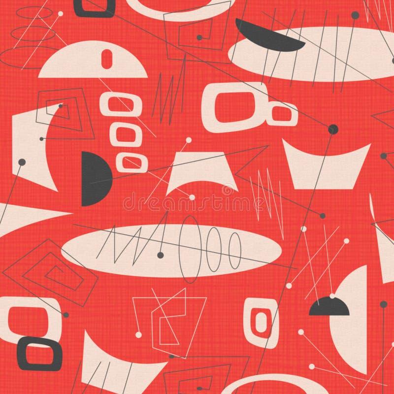Fondo moderno de la tela de los mediados de siglo ilustración del vector