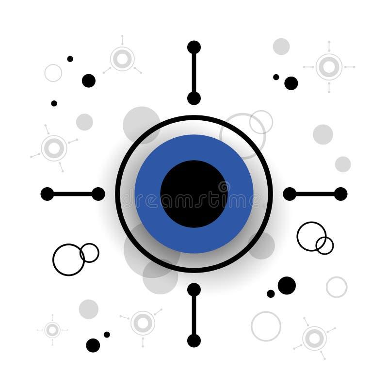 Fondo moderno del cerchio illustrazione vettoriale