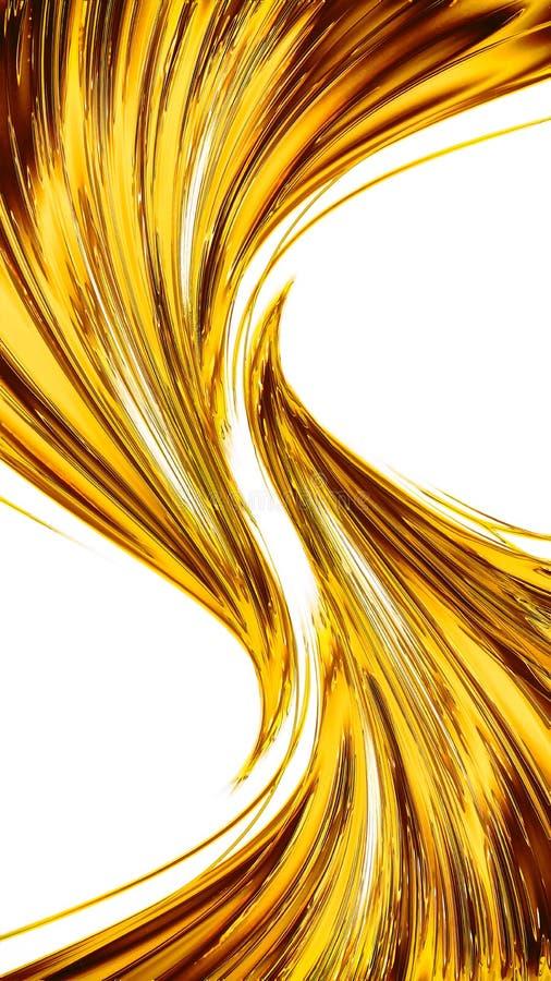Fondo moderno del color oro abstracto stock de ilustración