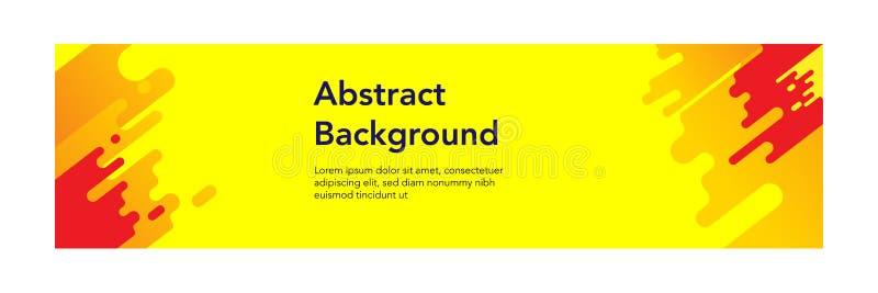 Fondo moderno del design_Yellow del extracto de la bandera ilustración del vector