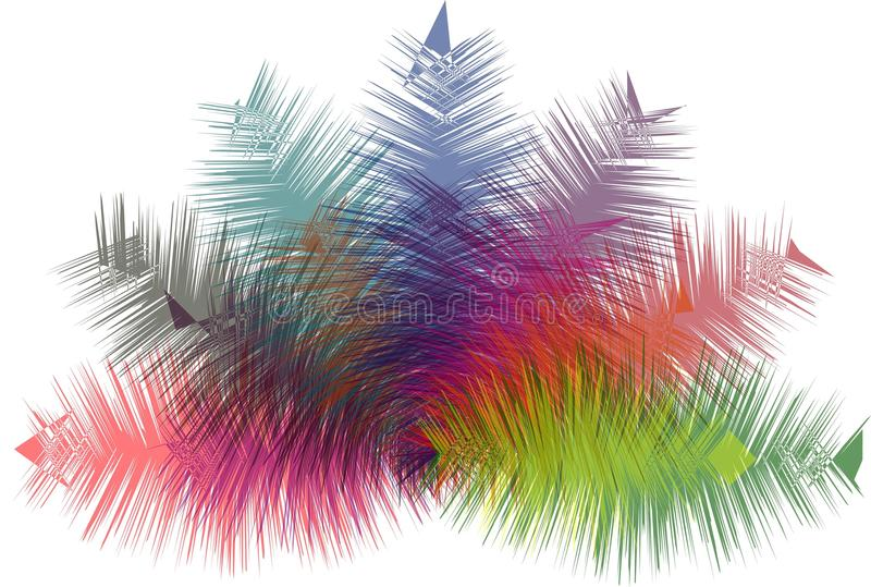 Fondo moderno del extracto múltiple del color libre illustration