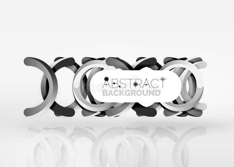 Fondo moderno del extracto del vector del anillo 3d libre illustration