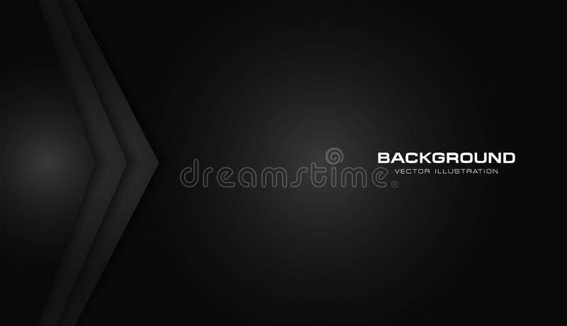 Fondo moderno del modello di vettore di progettazione di tecnologia della freccia di colore del nero della disposizione nera meta royalty illustrazione gratis