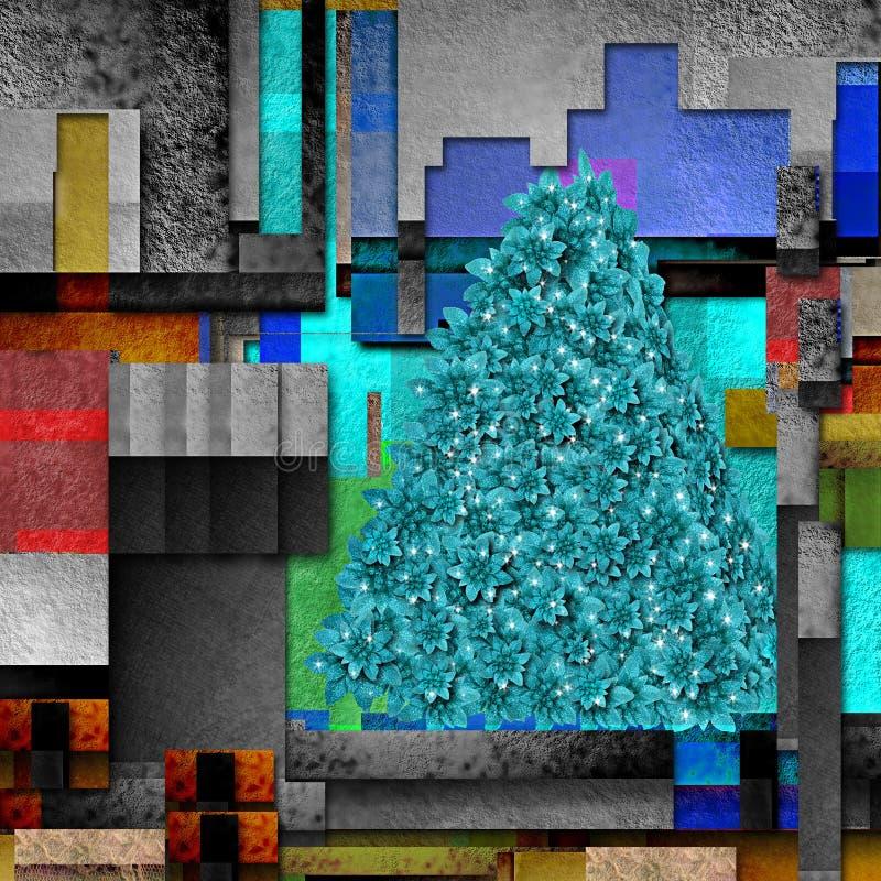 Fondo moderno dell'albero della stella di Natale di Natale illustrazione vettoriale