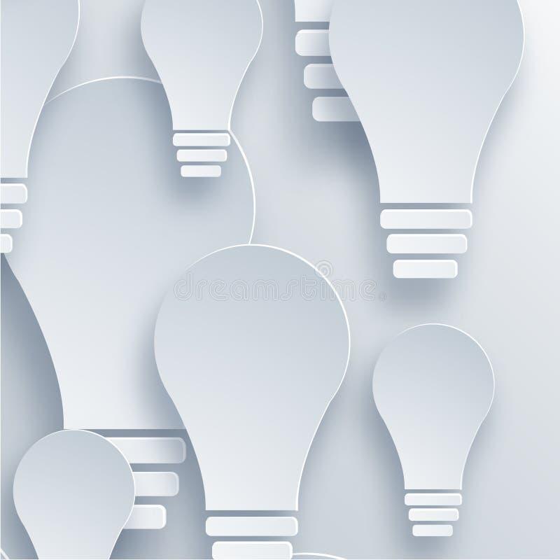 Download Fondo Moderno Della Lampadina Di Vettore Illustrazione Vettoriale - Illustrazione di mascherina, lampada: 55352394