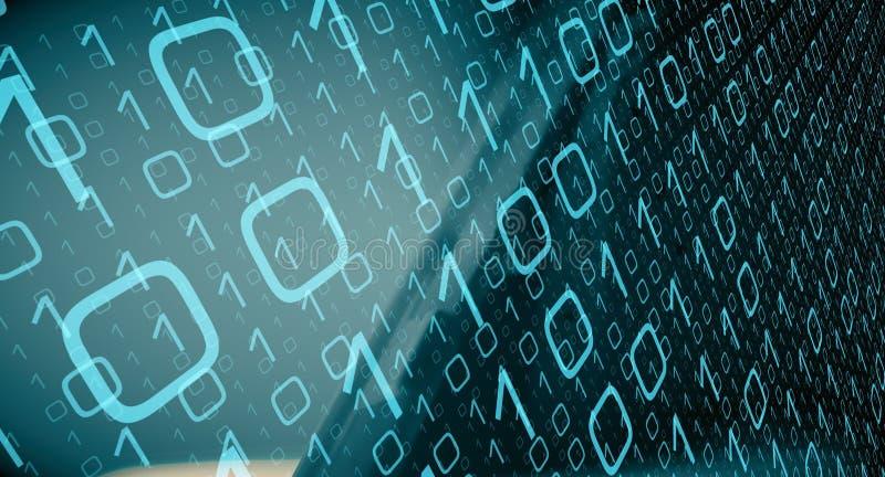 Fondo moderno di dati di codice binario del computer fotografie stock