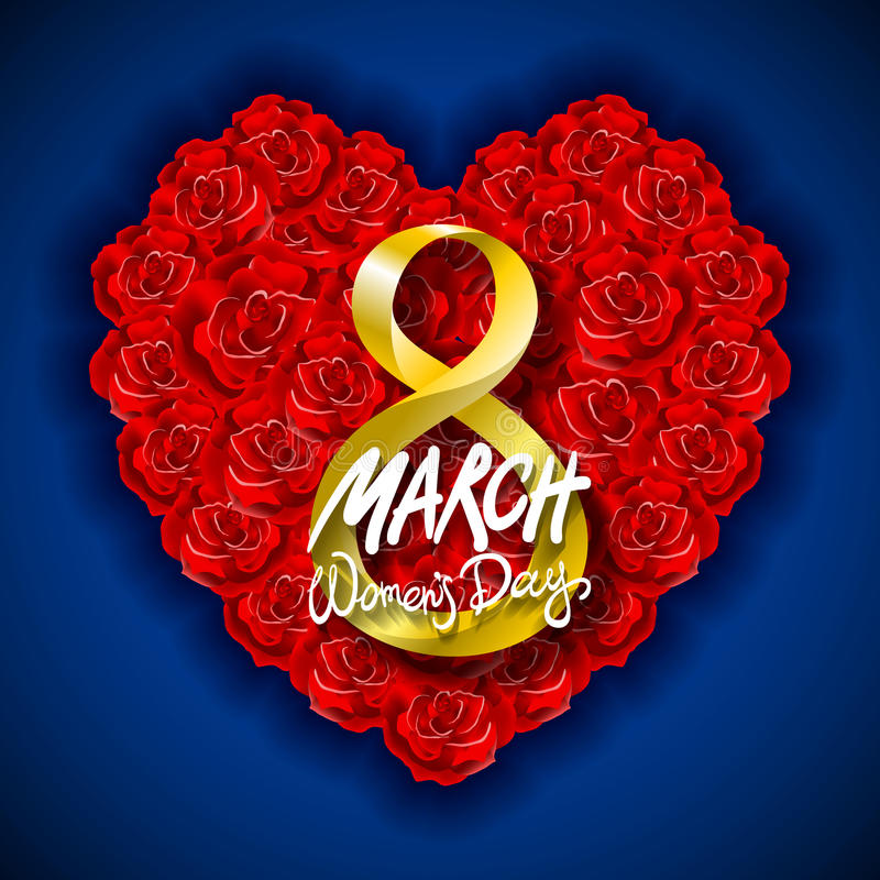 Fondo moderno di giorno o dell'8 marzo di biglietti di S. Valentino di vettore Giorno di madri Cartolina d'auguri Il giorno della illustrazione di stock