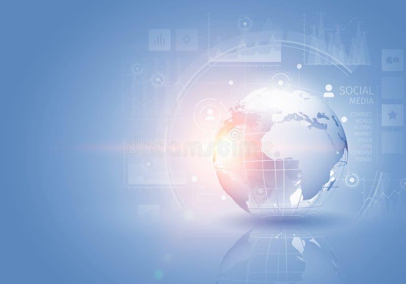 Fondo moderno di tecnologie del collegamento Media misti royalty illustrazione gratis