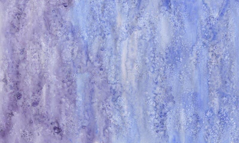 Fondo mojado de la acuarela azul Fondo abstracto de la acuarela Fondo pintado a mano de la acuarela Lavado de la acuarela Pai abs imagen de archivo