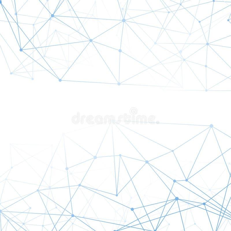 Fondo molecolare del blu del collegamento illustrazione vettoriale