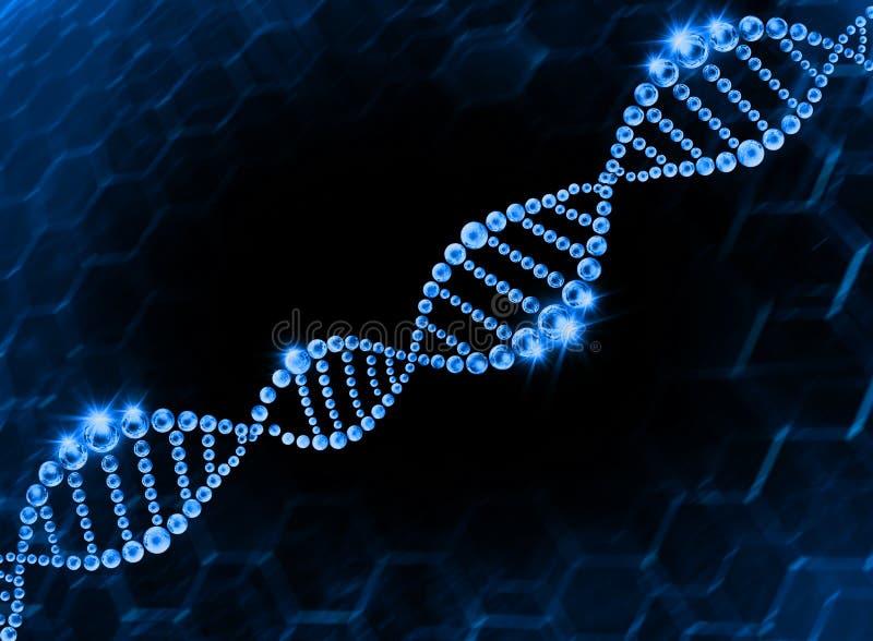 Fondo molecolare dell'elica del DNA immagine stock