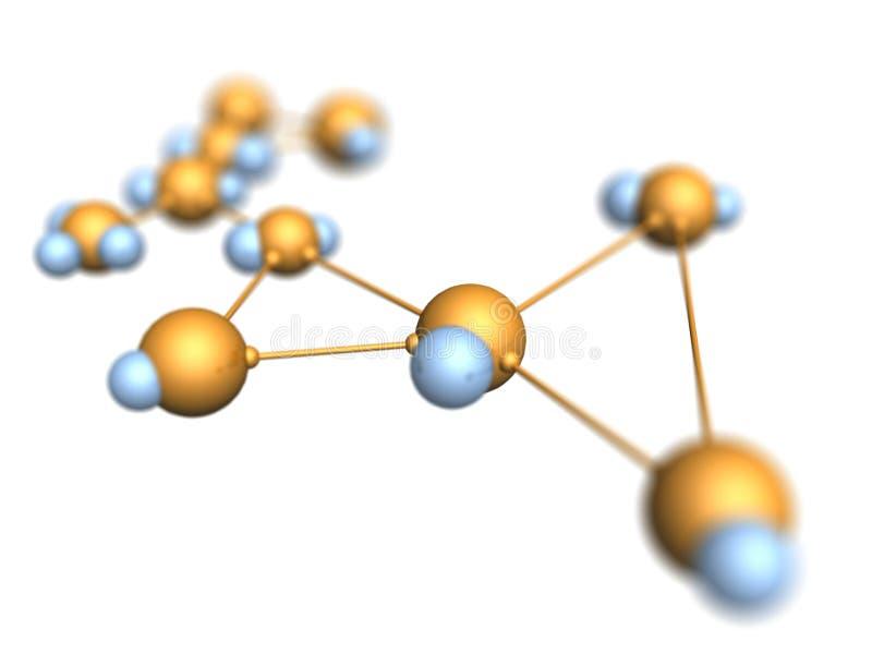 Fondo molecular ilustración del vector