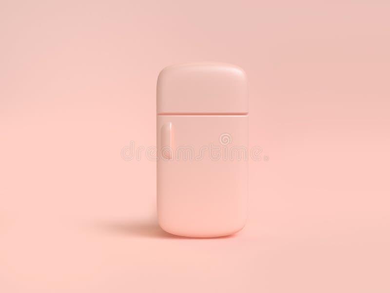 fondo molle 3d della rosa-crema dell'estratto rotondo del frigorifero rendere concetto della cucina dell'oggetto illustrazione di stock