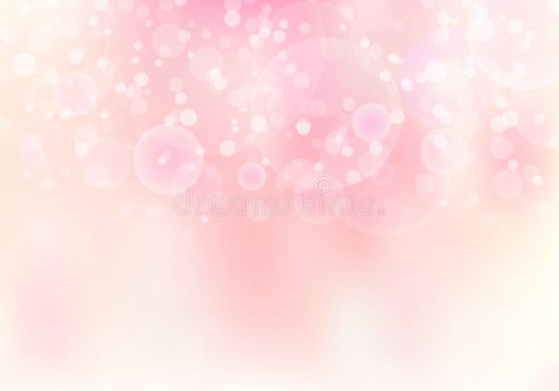 Fondo molle del bokeh del fuoco vago rosa dell'estratto con lo spazio della copia illustrazione di stock