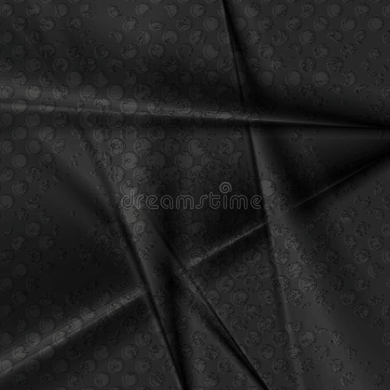 Fondo molle di vettore delle bande dell'estratto nero di lerciume illustrazione di stock