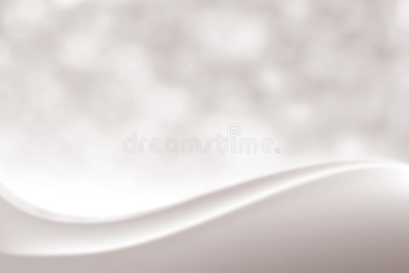 Fondo molle elegante d'argento regolare vago di bellezza, tonalità cosmetica lussuosa della luce morbida di Bokeh del contesto, t royalty illustrazione gratis