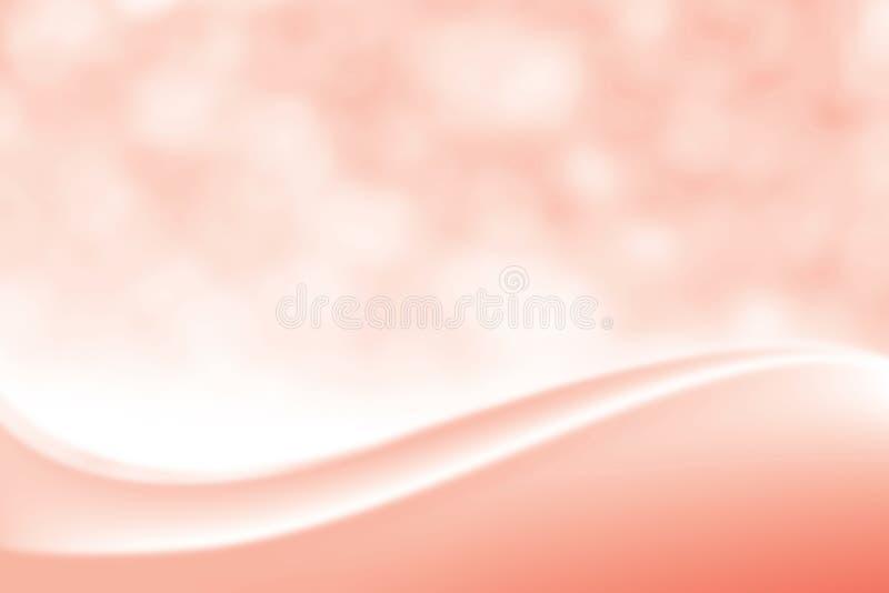 Fondo molle elegante rosso regolare vago di bellezza, tonalità cosmetica lussuosa della luce morbida di Bokeh del contesto, dolce illustrazione di stock