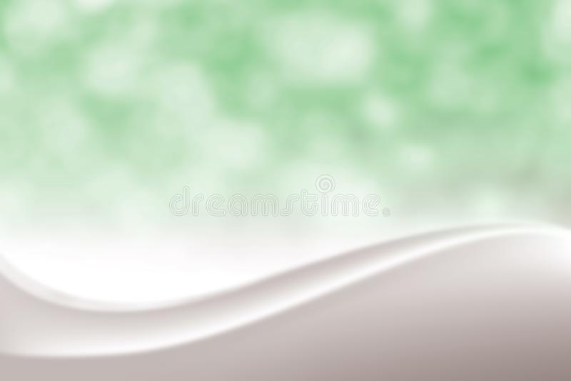 Fondo molle elegante verde regolare vago di bellezza, tonalità cosmetica lussuosa della luce morbida di Bokeh del contesto, dolce illustrazione vettoriale