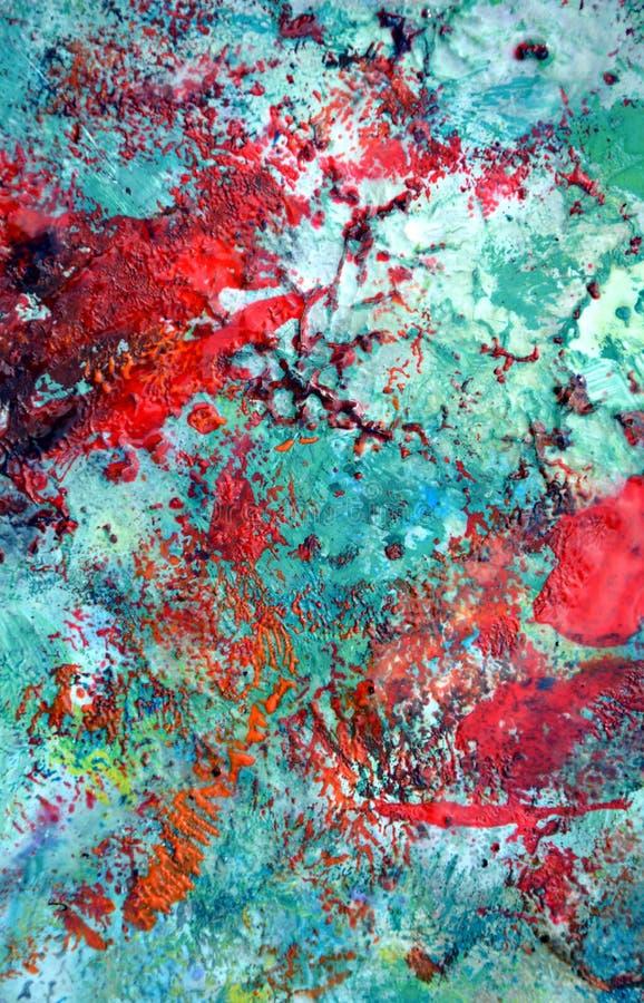Fondo molle pastello astratto giallo verde blu rosso, tonalità, fondo della pittura dell'acquerello fotografia stock libera da diritti