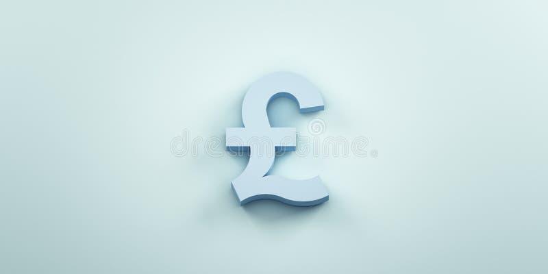 Fondo monetario del símbolo de Pund 3d rinden la ilustración ilustración del vector