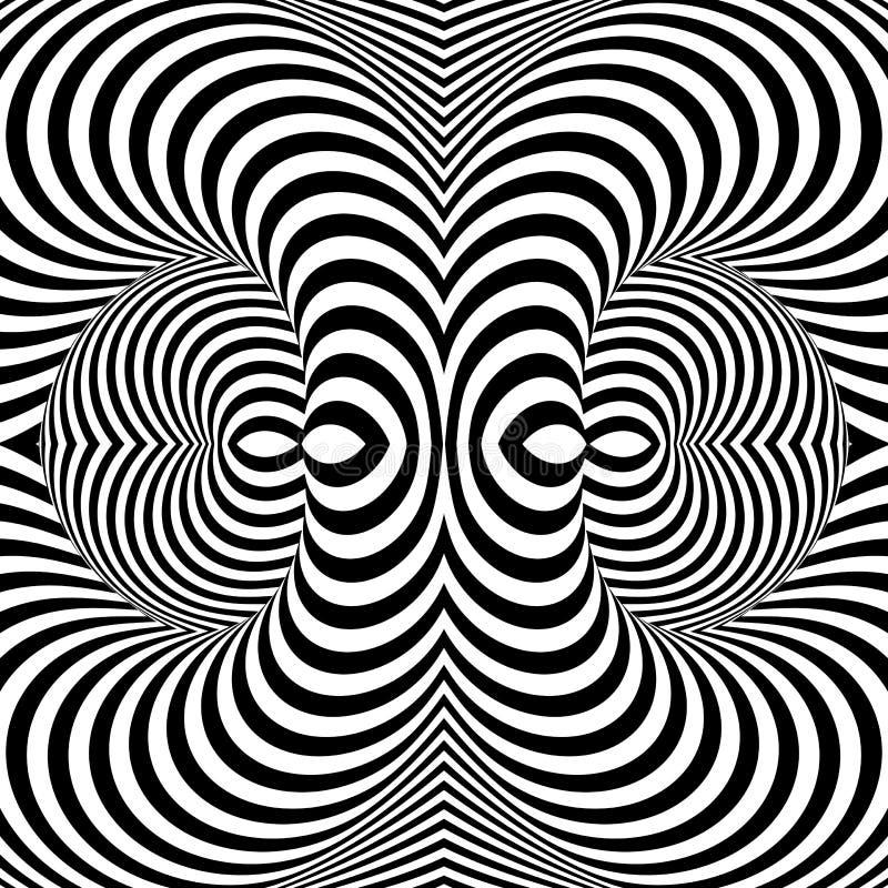 Fondo monocromático de la ilusión del giro del diseño libre illustration
