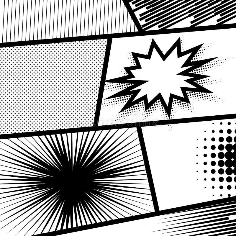 Fondo monocromático del punto ilustración del vector