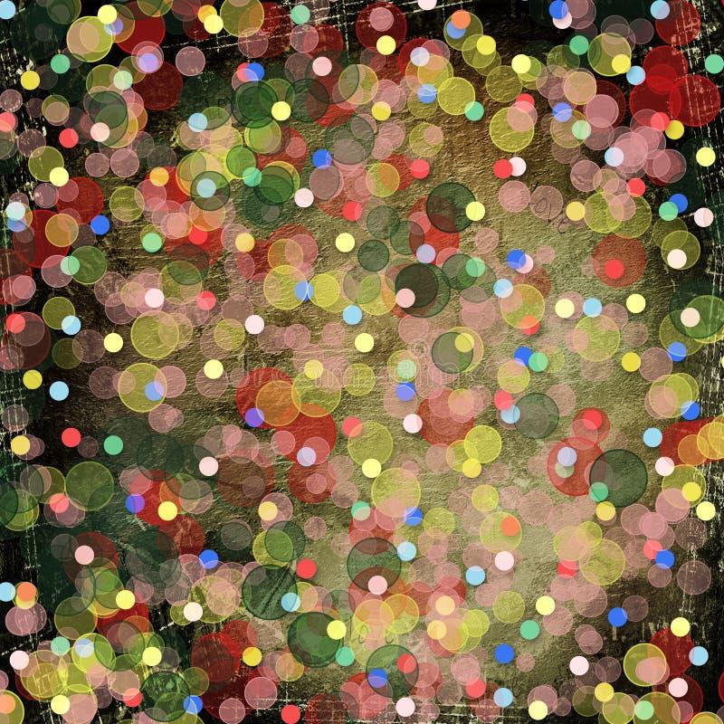 Fondo multicolor abstracto con el bokeh de la falta de definición libre illustration