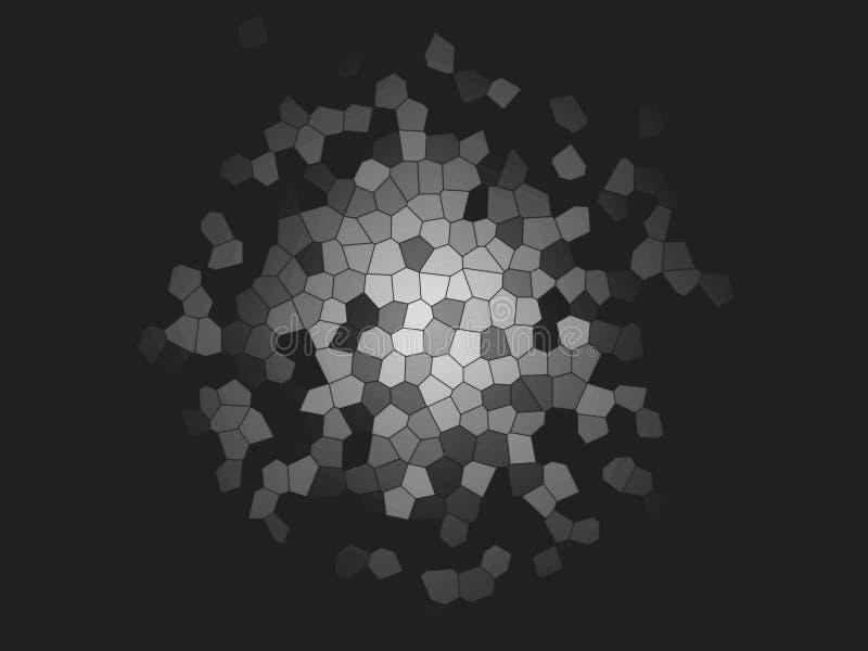 Fondo multicolor abstracto de la textura Fondos coloridos del mosaico del arte El místico salpica Explosión del espacio Creativo  ilustración del vector