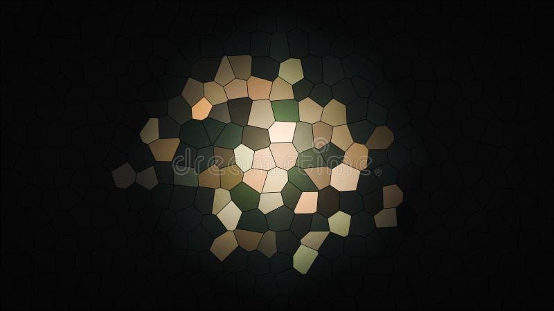 Fondo multicolor abstracto de la textura Fondos coloridos del mosaico del arte Místico salpica Creativo texturizado ilustración del vector