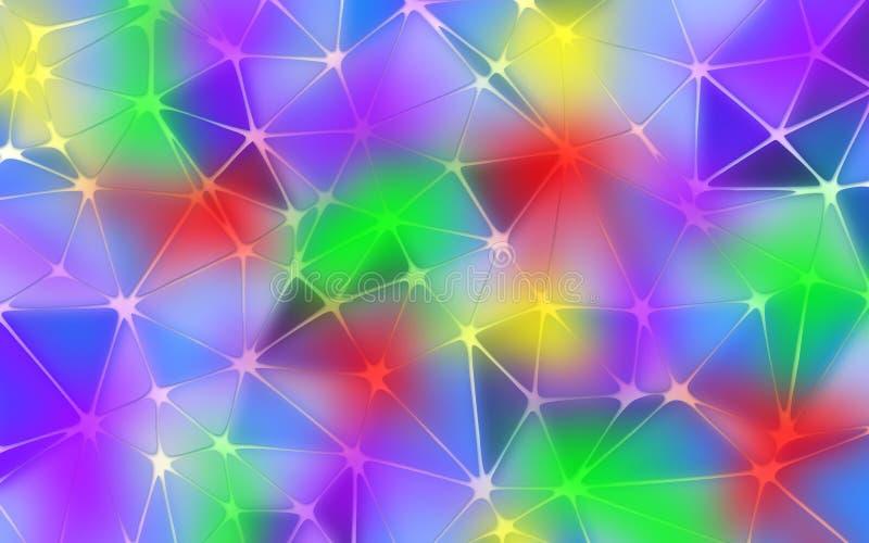 Fondo multicolor abstracto del Año Nuevo libre illustration