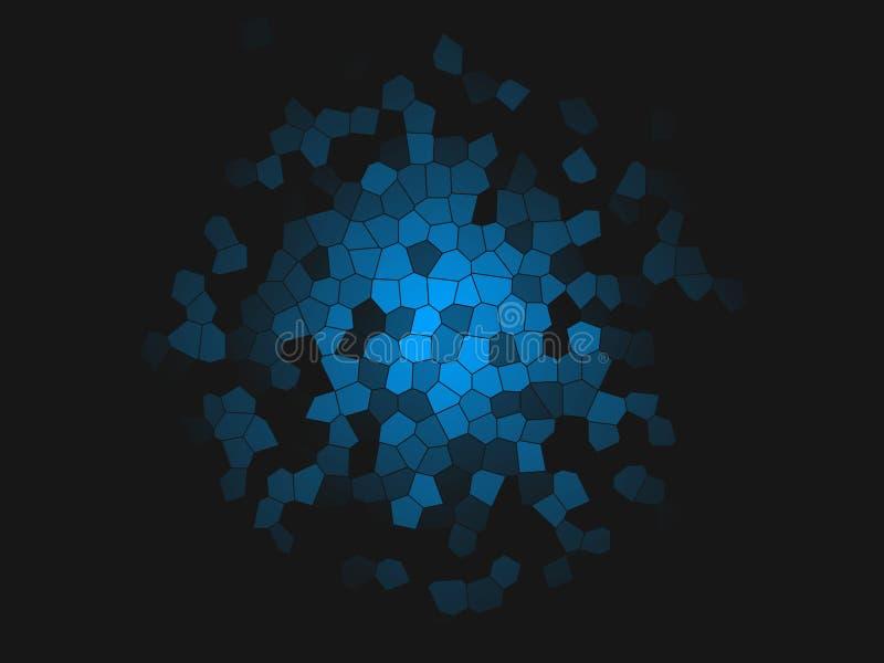 Fondo multicolor abstracto Fondos coloridos del mosaico del arte Chapoteo místico Explosión del espacio Creativo texturizado stock de ilustración