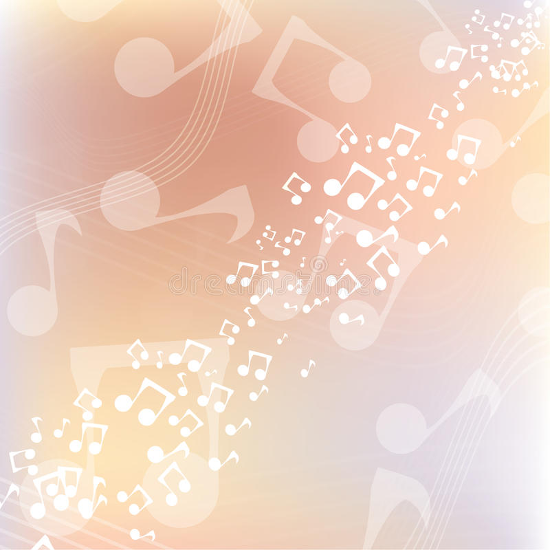 Fondo multicolor de la música stock de ilustración