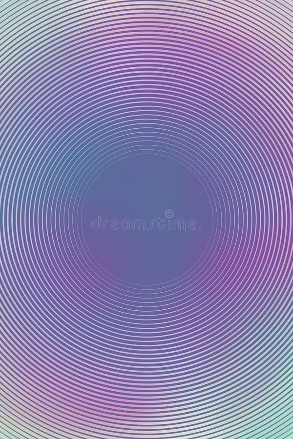 Fondo multicolor de la parte radial abstracta de la pendiente futurista stock de ilustración