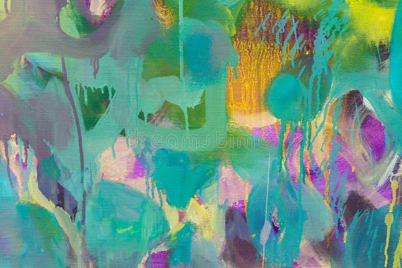 Fondo multicolor del extracto del primer de las pinturas de aceite Arreglo abstracto hermoso imágenes de archivo libres de regalías