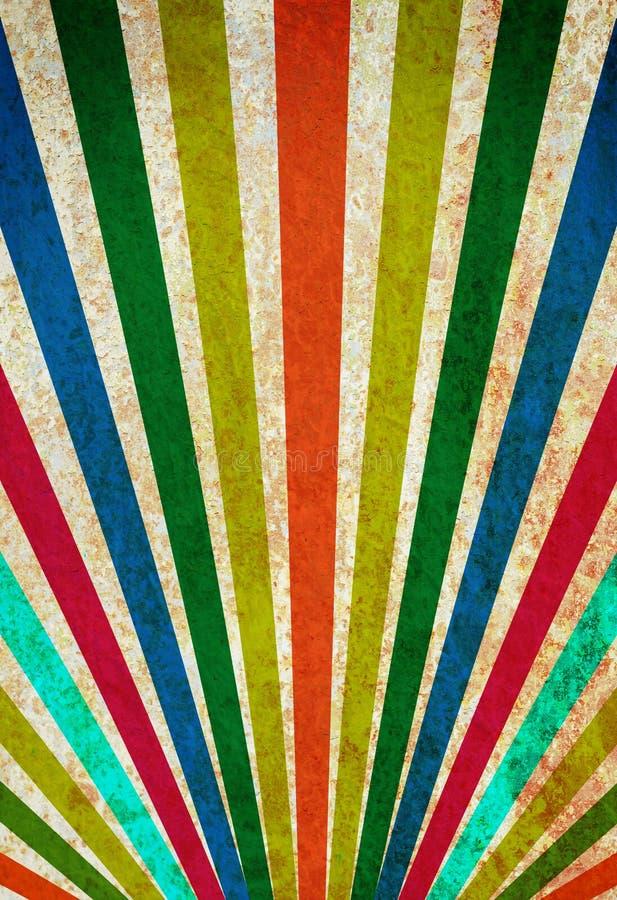 Fondo multicolor del grunge de los rayos de sol. fotos de archivo