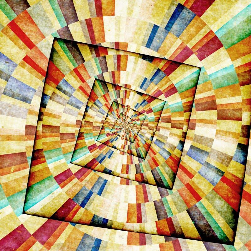 Fondo multicolor del grunge de los rayos de sol ilustración del vector