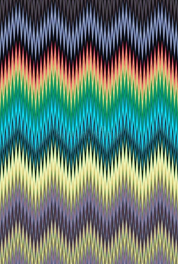 Fondo multicolor del modelo de zigzag de Chevron tendencias del arte fotografía de archivo