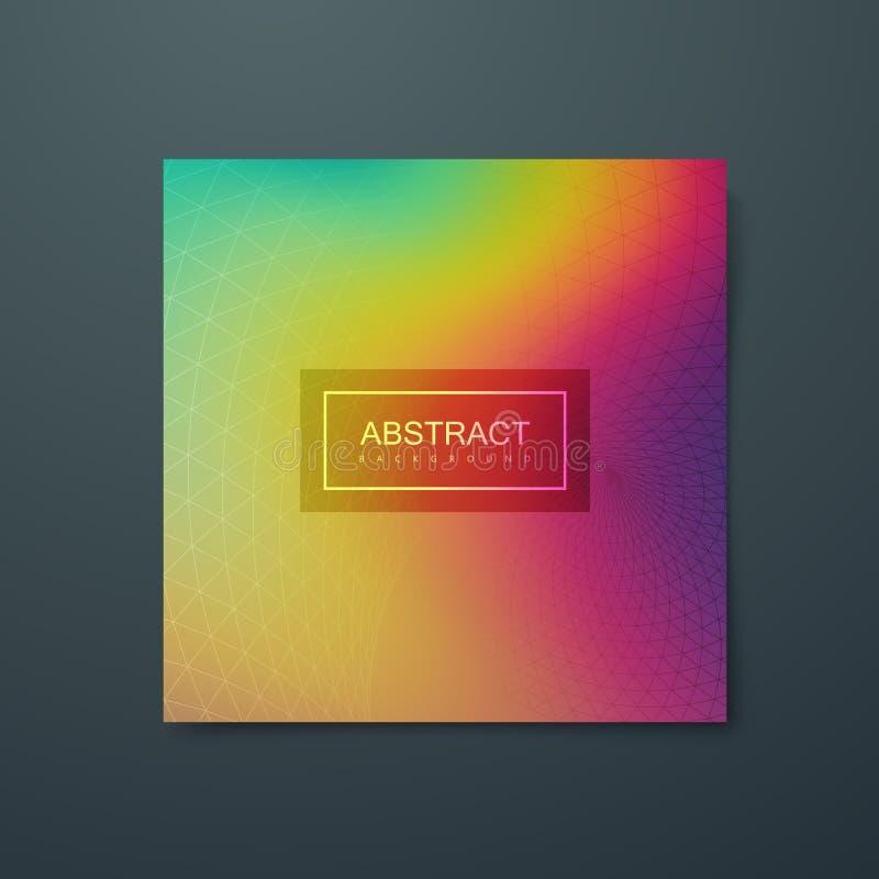 Fondo multicolor iridiscente flúido ilustración del vector