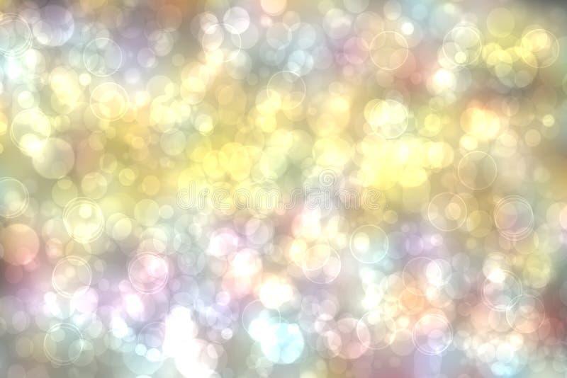 Fondo multicolor ligero Textura amarilla azul borrosa extracto del bokeh de la primavera del verano del rosa en colores pastel li imagenes de archivo