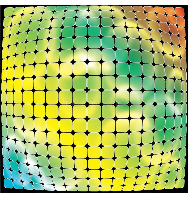 Fondo multicolore della curva del mosaico royalty illustrazione gratis