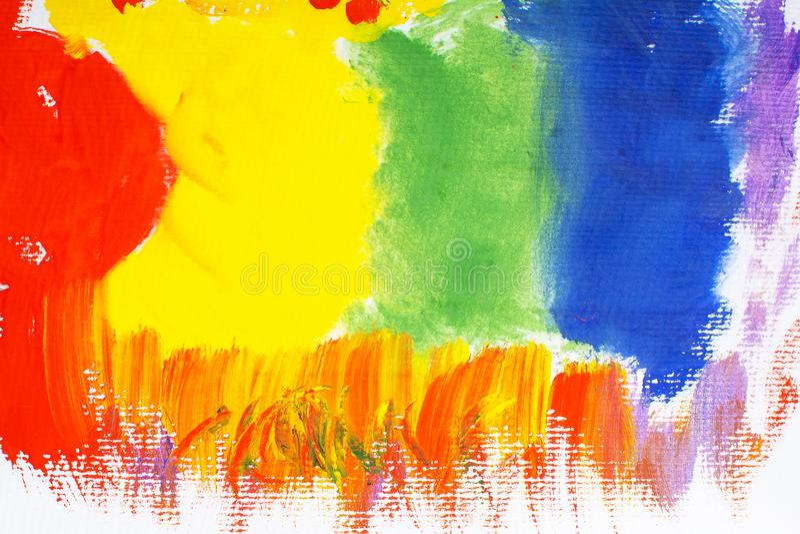 Fondo multicolore di gouache illustrazione vettoriale