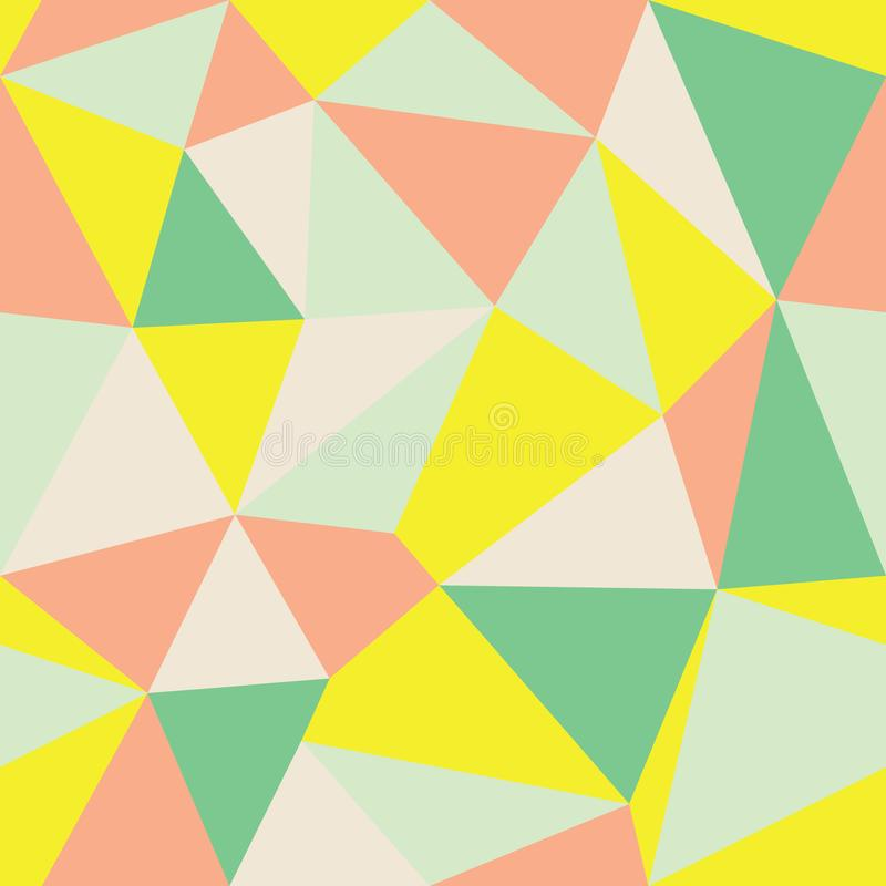 Fondo multicolore geometrico Ver2 del triangolo dell'estratto di vettore Adatto a tessuto, ad involucro di regalo ed a carta da p illustrazione vettoriale