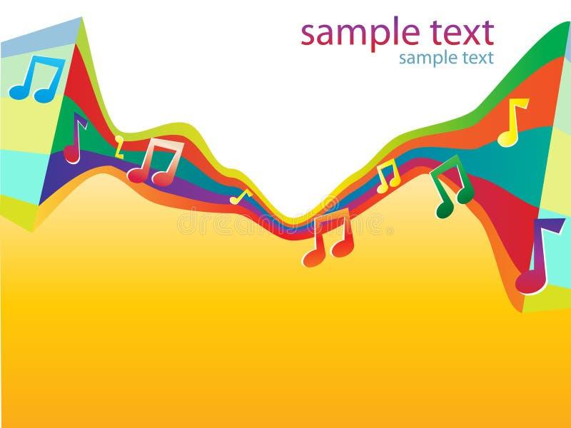 Fondo musical #0 del vector del color brillante abstracto stock de ilustración